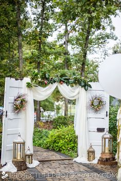 trendy wedding ceremony backdrop doors arbors trendy wedding ceremony backdrop doors arbors Always aspired to figure out how to knit, although unsure the place to. Wedding Ceremony Backdrop, Outdoor Wedding Decorations, Wedding Centerpieces, Wedding Venues, Wedding Ideas, Outdoor Wedding Entrance, Wedding Reception, Outdoor Wedding Backdrops, Vintage Outdoor Weddings
