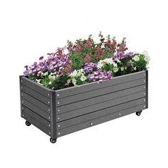 Park komposit blomsterkasse / Bredde: 90 cm / Dybde: 50 cm / Højde: 36 cm