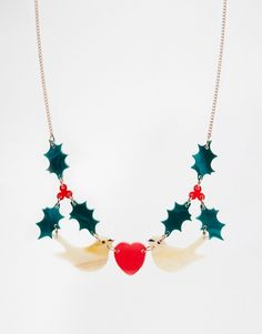 Image 1 of Tatty Devine Nol Holly Christmas Necklace
