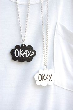 Okay. Okay. TFiOS Inspired Friendship Necklaces by partialtojam | on Etsy I want these, but the husband is not interested...