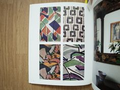 "Omega printed linen - T15: Vanessa Bell; T16: Vanessa Bell or Duncan Grant; T19: Roger Fry; T20: Roger Fry or Frederick Etchells.  From ""The Omega Workshops 1913-19 - Decorative Arts of Bloomsbury"", exhibition catalogue, CraftsCouncil, London, 1984"