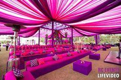 Wedding decoration colours purple and pink decor color scheme Desi Wedding Decor, Wedding Stage Decorations, Wedding Mandap, Wedding Colors, Wedding Ideas, Hall Decorations, Trendy Wedding, Wedding Dresses, Wedding Ceremony
