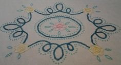 1950's Chenille Pastels Bedspread Mid Century by LipstickLounge, $75.00