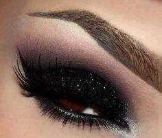 Black bronze sequin make up for brown eyes