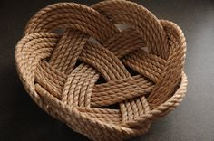 Nautical Decor  Nautical Kitchen  Rope Bowl  Nautical by OYKNOT, $55.00
