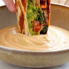Crunchwrap Supreme This vegan crunchwrap is INSANE! Stuff this bad boy with whatever you like - I made it with sofritas tofu and cashew queso - and wrap it up, fry, and devour! Favorite vegan recipe to date. Mexican Food Recipes, Whole Food Recipes, Cooking Recipes, Healthy Recipes, Vegan Lunch Recipes, Crockpot Recipes, Vegan Cheese Recipes, Vegetarian Recipes Videos, Chicken Recipes