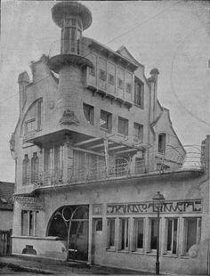 Bilbao, chalet and dye factory Astigueta Francisco in La Casilla square. Architect Pedro Guimón, 1905.