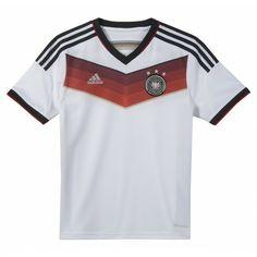 Het thuisshirt junior van #Duitsland is er! Dit #voetbalshirt van @adidas is zoals altijd weer mooi en subtiel vormgegeven en is uitgerust met de Climacool technologie. #dws