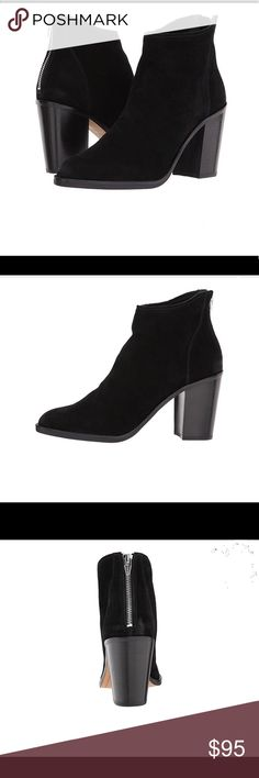NWT Dolce Vita Stevie Black Suede Ankle Booties NWT Dolce Vita Stevie Black Suede Ankle Booties, size 9, new in box. Please see Zappos link for more details: https://m.zappos.com/p/dolce-vita-stevie-black-suede/product/9018857/color/106 Dolce Vita Shoes Ankle Boots & Booties