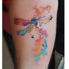 Resultado de imagen para watercolor dragonfly tattoo
