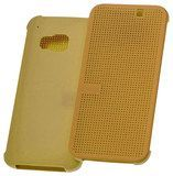 HTC - Dot View Case for HTC One (M9) Cell Phones - Neon Yellow