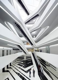 Rising in Russia: Zaha Hadid's Dominion Tower unveiled in Moscow | Architecture | stairs