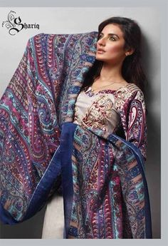 Shariq Textiles Rabea Pashmina Dresses 2013-2014 for Women
