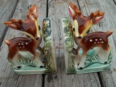 Vintage McCoy Deer Fawn Book Ends Bookends Wildlife Decoration Pottery Art RARE | eBay