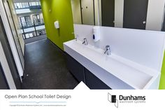 A school washroom makeover with our premium cubicle and washroom product range with Floor to Ceiling toilet cubicles for complete security and privacy. Toilet Cubicle, Washroom Design, Room Tiles, Open Plan, Modern Bathroom, Master Bath, Vanity, Cubicles, Flooring