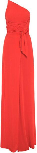 One-Shoulder Silk-Jersey Dress - Lyst