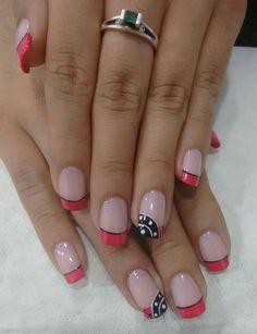 Uñas French Nail Designs, Toe Nail Designs, Simple Nail Designs, Nails Design, Butterfly Nail Art, Nail Art Photos, Pretty Nail Art, French Tip Nails, Super Nails