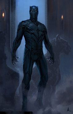 Conceptual artist Andy Park has shared an early design for Marvel's Captain America: Civil War, which gives us a look at an alternate costume for Black Panther. Check it out after the jump. Hq Marvel, Marvel Comics Art, Marvel Heroes, Marvel Cinematic, Black Panther Marvel, Black Panther King, Jack Kirby, Stan Lee, Comic Book Characters