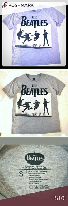 The Beatles Jump Love Album Cover T-Shirt Small This cool The Beatles Jump Love Album Cover Retro Graphic Tee is a cotton Poly blend in heather grey. Men's size Small The Beatles Shirts Tees - Short Sleeve
