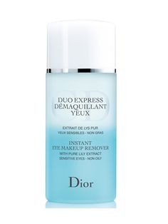 Worth the splurge, this one proved its prowess by quickly lifting off waterproof makeup with no stinging — even when used by a contact lens-wearer. #eyemakeupremover #dior