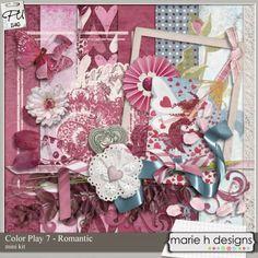 Color play 7 - Romantic mini by Marie H designs : Scrap Art Studio, Where Creativity Soars
