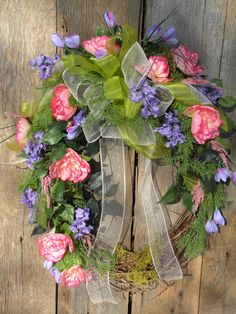 Spring Wreath Front Door Wreath Summer Wreath by KathysWreathShop, $79.99