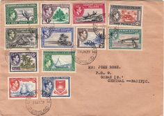"""Variety – block of 4 showing """"roo's tongue out"""" on lower right stamp The top two units are MH and creased. The bottom two are MUH, though the variety stamp has a pencil annotation on reverse John Rose, Old Paper, Ellice Islands, Ephemera, Vintage World Maps, Envelope, Stamps, Seals, Envelopes"""