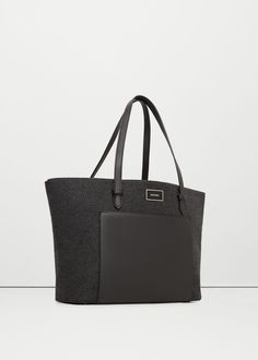 Contrasting bag - Bags for Woman | MANGO United Kingdom