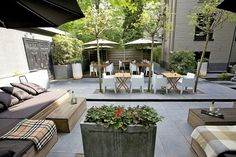Vondel Hotels the Leading Four Stars Hotel in Amsterdam : Comfortable Outdoor Living Space Applied In Best Vondel Idea