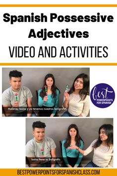"""This teaching video with Spanish subtitles follows the students talking about what they have. All of the possessive adjectives are used in context many times including the use of """"su"""" (their) in the singular form which is confusing for learners. Help your middle & high school students understand Los adjetivos posesivos. Includes the script, Cloze activity for students write in the missing words & Instructions and rubric for oral presentation in which students imitate the video."""