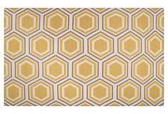 Pandora Flat-Weave Rug, Golden on OneKingsLane.com--for bedroom?