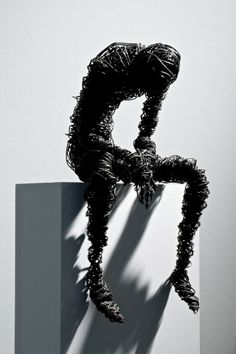 Marco Cingolani (wire sculptures) More Mais Wire Art Sculpture, Wire Sculptures, Abstract Sculpture, Metal Sculpture Artists, Bronze Sculpture, Wire Crafts, Art Plastique, Oeuvre D'art, Installation Art