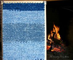 One Rag Rug Loom--Two Sizes. . . .Isn't that clever? The full loom will creat...