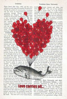 like the idea of hearts on a printed page...