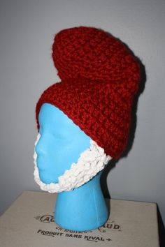 Papa Smurf EASY Crochet Hat Pattern Size Child & Teen/Adult Buy 2 Get 1 Free