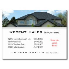 Real Estate Postcards, Real Estate Post Cards