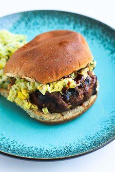 Hoisin Buffalo Burger with Spicy Slaw