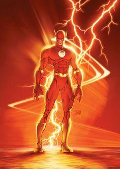 Flash by Michael Turner (DC comics) Comic Book Artists, Comic Artist, Comic Books Art, Flash Comics, Arte Dc Comics, Comic Book Characters, Comic Book Heroes, Flash Characters, Comic Movies