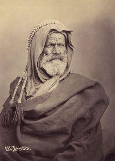 (KA) Albumen print - Egypt - Egypte - A Bedouin - Pascal Sebah - circa 1875
