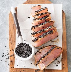 easy tuna recipes, easy fish recipes, sesame recipes, Asian fish recipes, healthy dinner ideas, 5 ingredient recipes Tuna Dishes, Seafood Dishes, Fish And Seafood, Easy Tuna Recipes, Asian Fish Recipes, Quick Weeknight Dinners, Fast Dinners, Sesame Crusted Tuna, Sesame Recipes