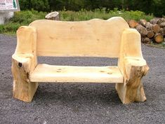 Awesome Log Bench! www.wulfcreekdesigns.com