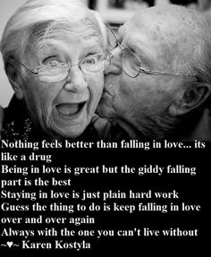 The life sustaining drug... key to staying in love is falling in love over and over again