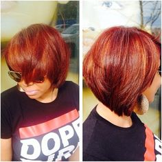 Fall into this bob!!!!! Cut by @beautiful_hairdiva! #liketheriversalon #flowing #fallcolors Makes me wanna cut and color my hair immediately!!