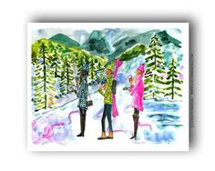Cute and colorful art prints! www.evelynhenson.com