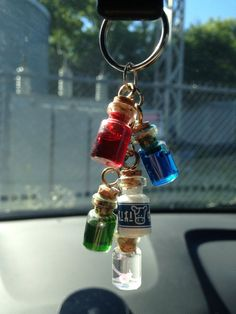 Legend of Zelda 5 potion Key Chain by GameNerdCrafts on Etsy