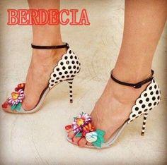 Multicolor Flowers Women Fashion Polka dot Sandals