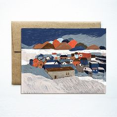 Winter landscape card  | Ferme à Papier