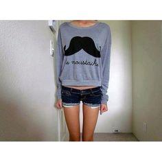 Sweat FOREVER 21 Moustache en coton - Catalogue - Be.com