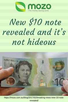 Money blogging: We wrote about the new Aussie $10 note. Best thing about it? The design.  https://mozo.com.au/blog/2017/02/breaking-news-new-10-note-revealed/