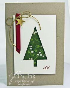 Tree Punch Christmas Card www.JillsInk.com